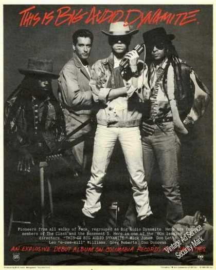 Big Audio Dynamite Photo Debut Album Promo (1985)