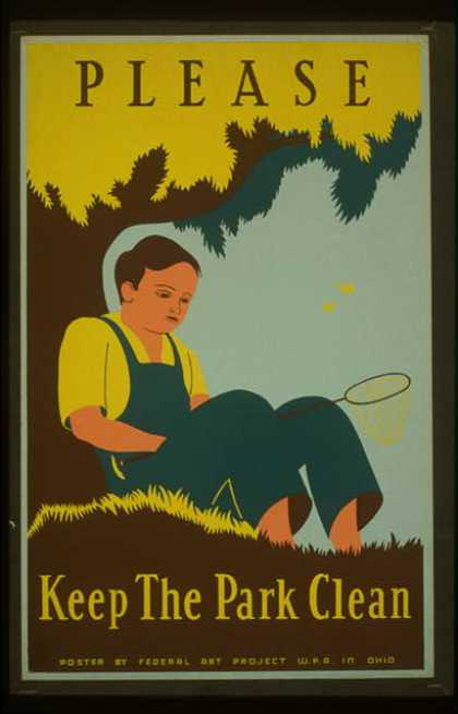 Please keep the park clean. (1938)