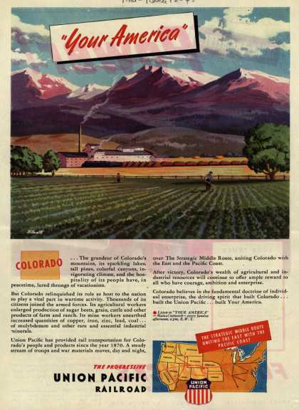 "Union Pacific Railroad's Middle Route – ""Your America"" Colorado (1945)"