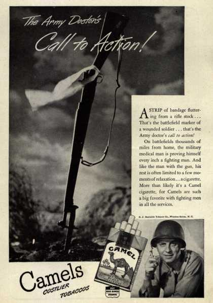 R. J. Reynolds Tobacco Co.'s camel – The Army Doctor's Call to Action (1945)