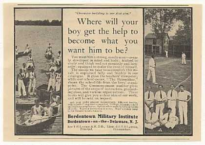 Bordentown Military Institute NJ Boys School (1908)