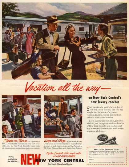 New York Central System's Luxury coaches – Vacation all the way-on New York Central's new luxury coaches (1947)