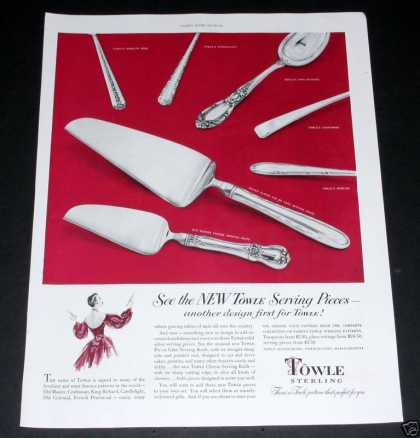 Towle Sterling Serving Pcs (1950)