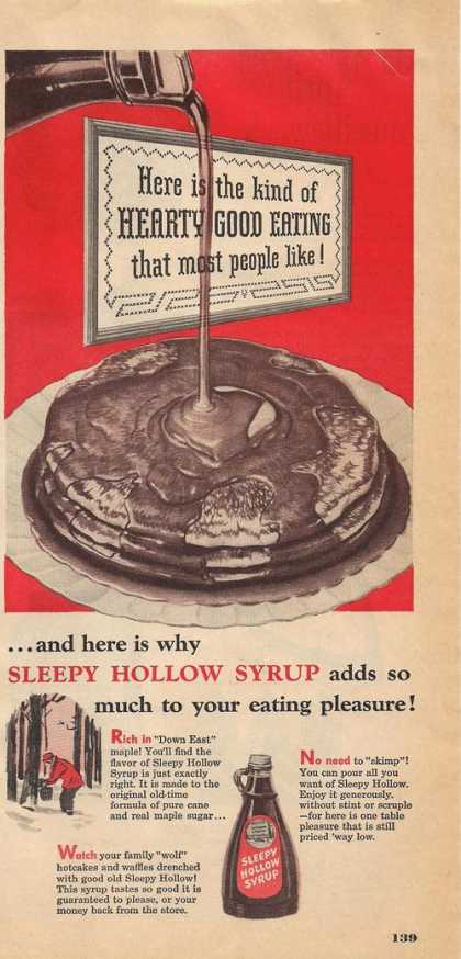Sleppy Hollow Pancake Syrup (1951)