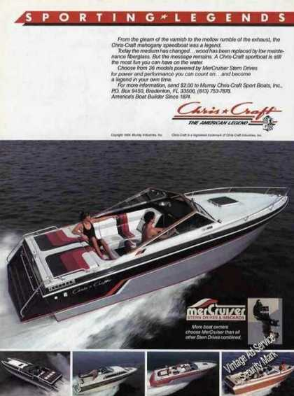 Chris-craft Sportboats W/ Mercruiser Photos (1985)