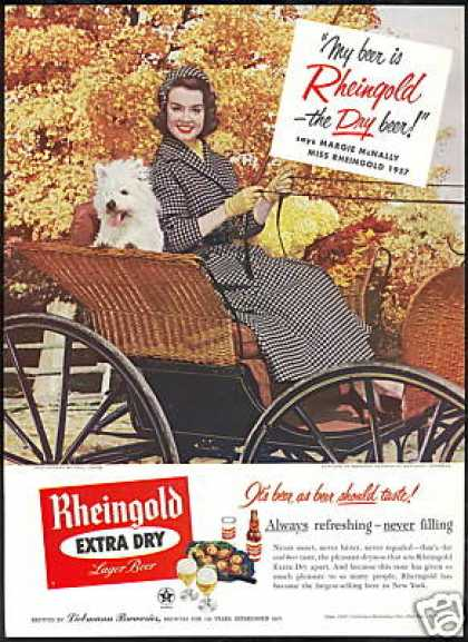 Westie Dog Miss Rheingold Beer Margie McNally (1957)