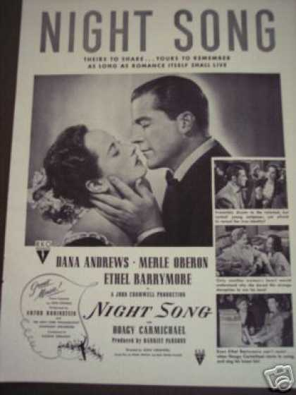Night Song Movie Promo Ethel Barrymore (1947)
