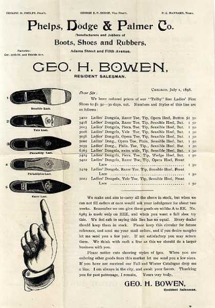 Phelps, Dodge &amp; Palmer&#8217;s Geo. H. Bowen, Resident Salesman