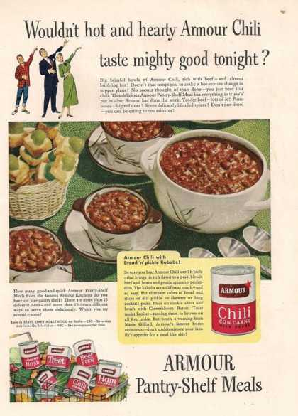 Armour Chili Con Carne With Beans (1951)