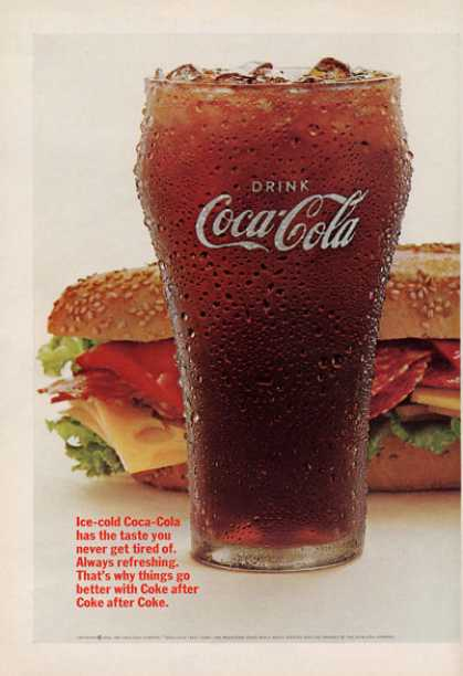 Coke Coca Cola Glass Photo (1966)