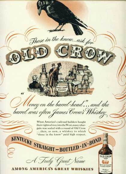 Old Crow Kentucky Straight Bourbon Whiskey C (1948)