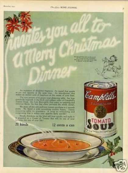 "Campbell's Tomato Soup Ad ""Invites You All... (1923)"