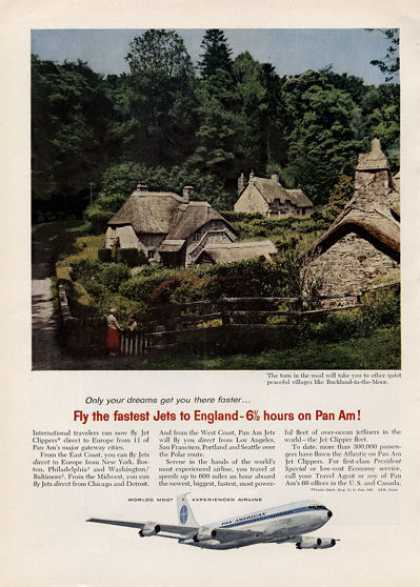 Pan American Airlines Ad English Countryside (1960)