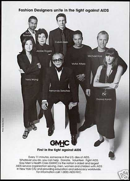Fashion Designer Photo GMHC Fight Aids (1996)