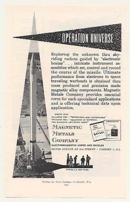 US Navy Missile Magnetic Metals Company (1953)