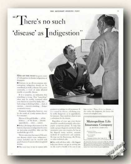 Metropolitan Life No Such Disease Advertising (1941)