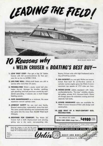 Welin Deluxe Cruiser Photo Perth Amboy Nj (1951)