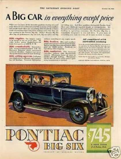 Pontiac Big Six 2-door Sedan Color (1929)