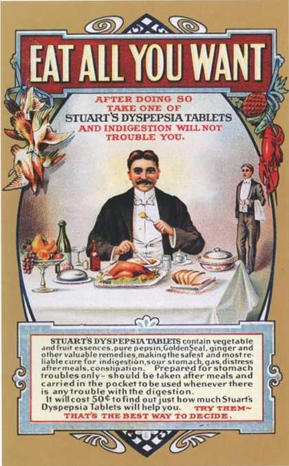 Stuart's Dyspepsia, Eating Restaurants, Greed, Gluttony, USA (1910)