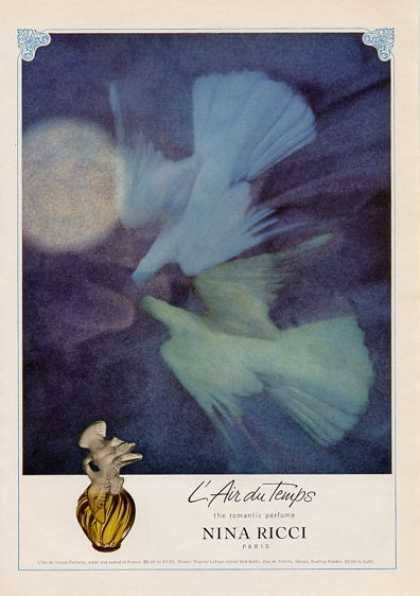 Nina Ricci L'air Du Temps Perfume Doves (1965)
