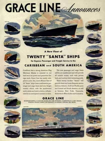 Grace Line's Caribbean and South America – Grace Line Announces (1946)