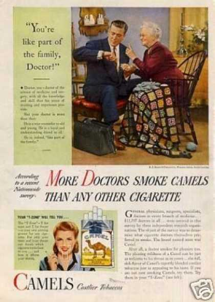 "Camel Cigarettes Ad ""You're Like Part of The... (1946)"
