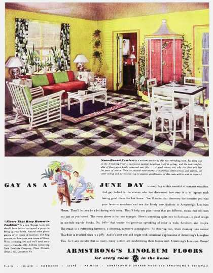 Armstrong's Linoleum Floors – Gay as a June Day
