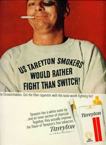 Tareyton Cigarettes Rather Fight Than Switch C (1962)