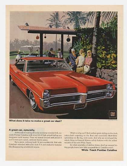 Red Pontiac Catalina A Great Car (1967)
