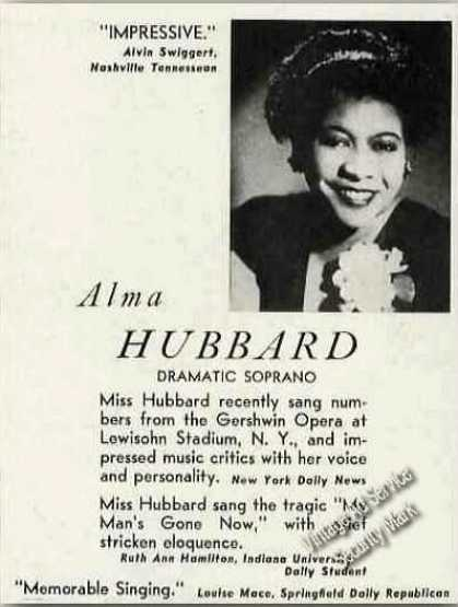Alma Hubbard Dramatic Soprano Photo (1949)