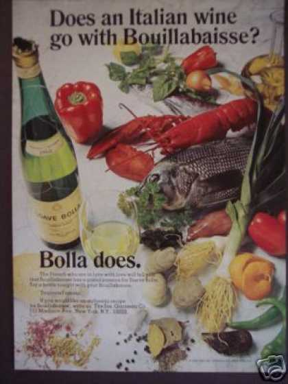 Soave Bolla Wine W Bouillabaisse Photo (1970)