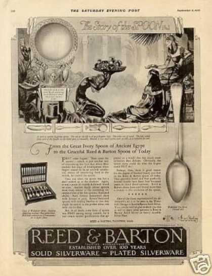 Reed & Barton Silver Ad Wakefield Pattern (1926)