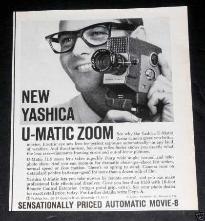 Yashica U-matic Zoom Camera, Exc (1961)
