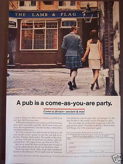 Man In Kilt Come As You Are Britain Travel (1967)