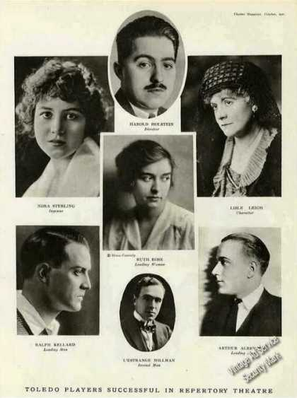 Toledo Players Repertory Theatre Photos Feature (1921)