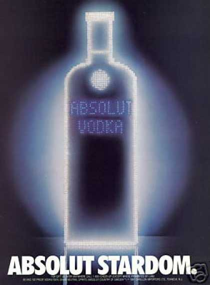 Absolut Stardom Vodka Bottle (1987)