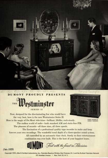 Allen B. DuMont Laboratorie's The Westminster – DuMont Proudly Presents The Westminster (1951)