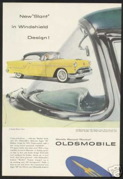 Yellow Green Oldsmobile Super 88 Coupe Car (1954)