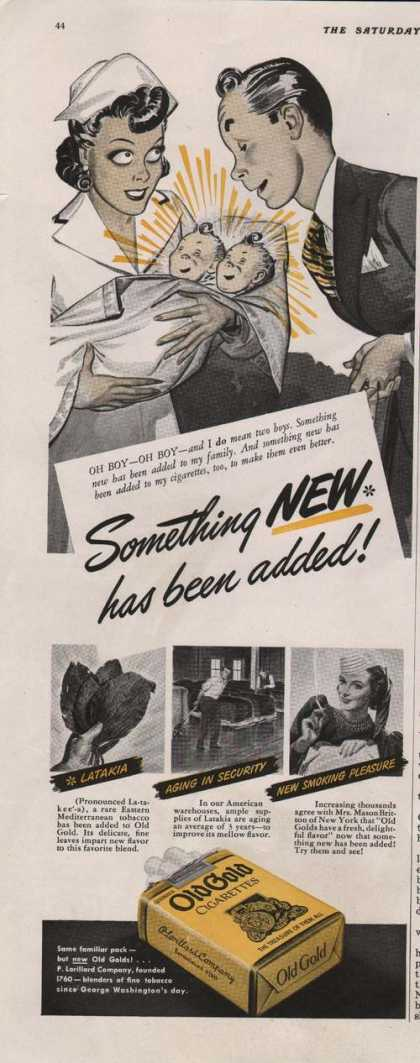Old Gold Cigarettes Something New (1941)