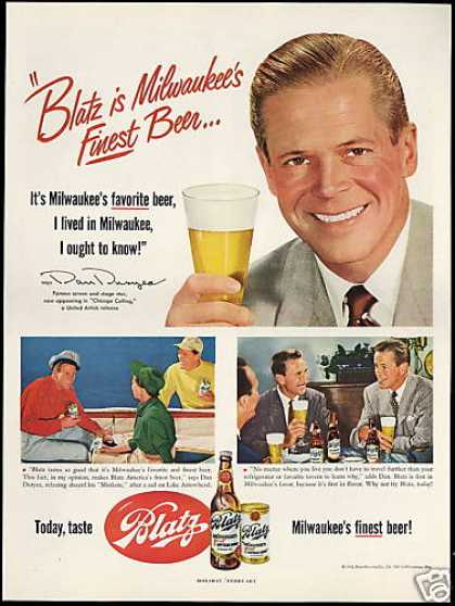 Dan Duryea Photo Vintage Blatz Beer (1952)