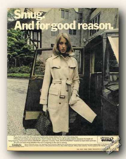 Smug Fashion Photo Country Estate Gimbels (1973)