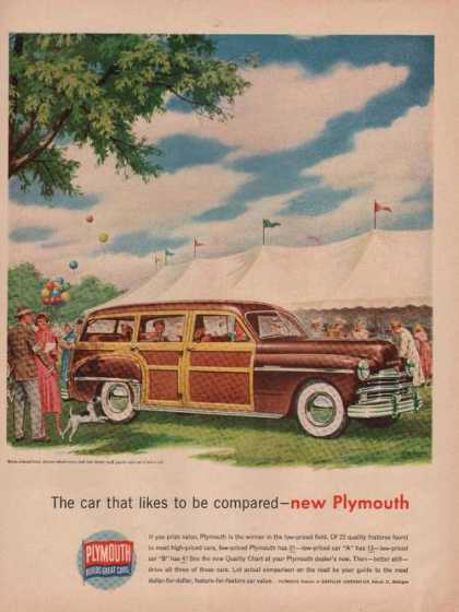 Car That Likes To Be Compared Plymouth (1949)