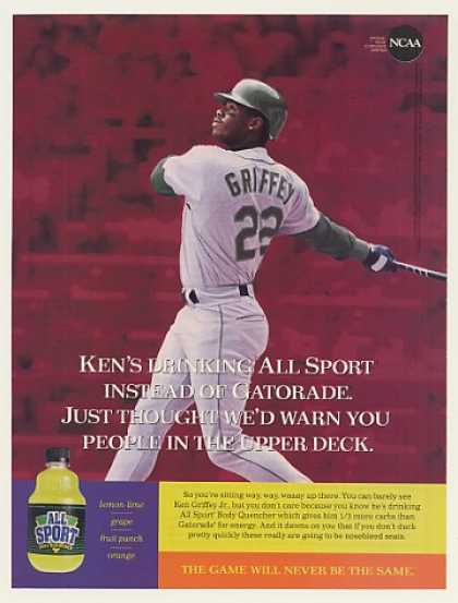 Ken Griffey Jr All Sport Body Quencher Photo (1995)