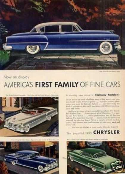 Chrysler Cars (1953)
