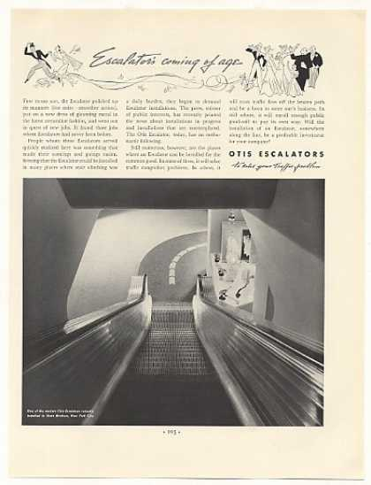Stern Brothers New York Otis Escalator Photo (1937)