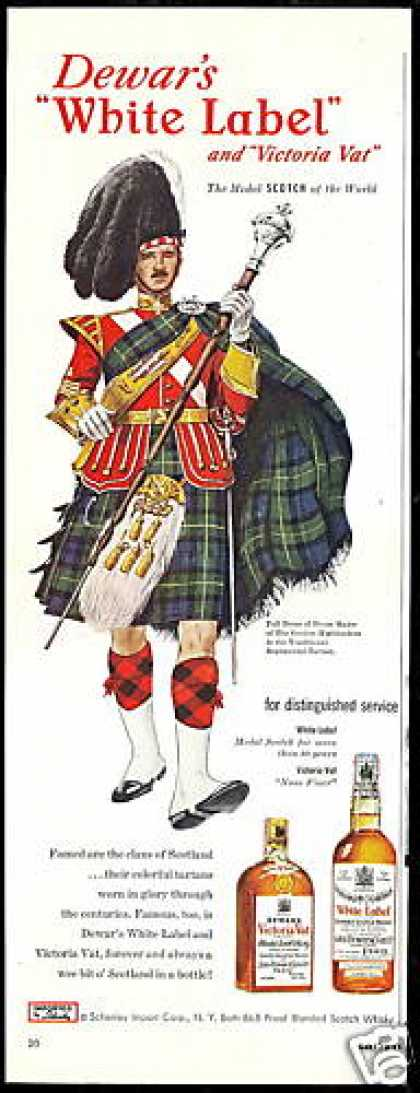 Dewar's WL Scotch Gordon Highlander (1952)