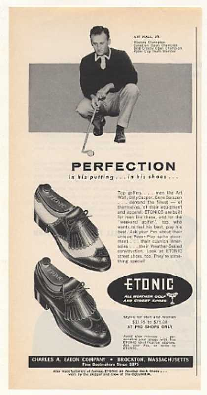 Golf Champion Art Wall Jr Etonic Shoes (1963)