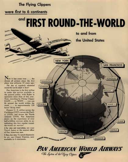 Trans World Airline's TWA – First Round-The-World (1947)