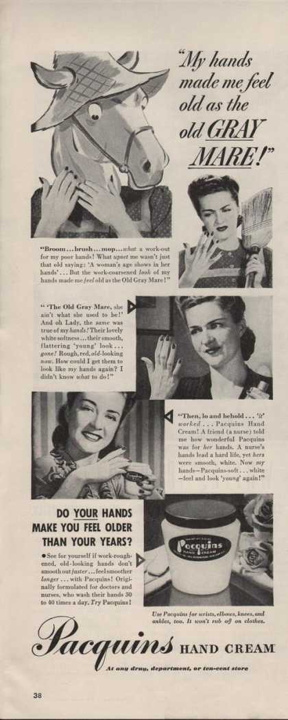Pacquins Ladies Hand Cream (1942)