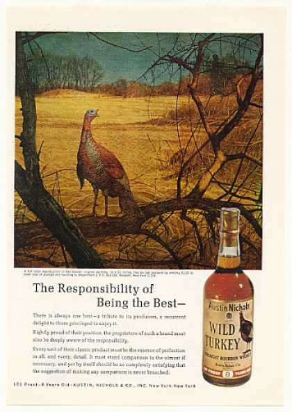 Wild Turkey Whiskey the Best Ken Davies art (1971)